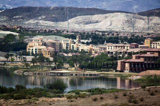 Lake Las Vegas  as seen Friday, May 16, 2014. The mastered planned community includes Monte Lago Village resort, the Westin Lake Las Vegas resort and Hilton Lake Las Vegas, (Jeff Scheid/Las Vegas  ...