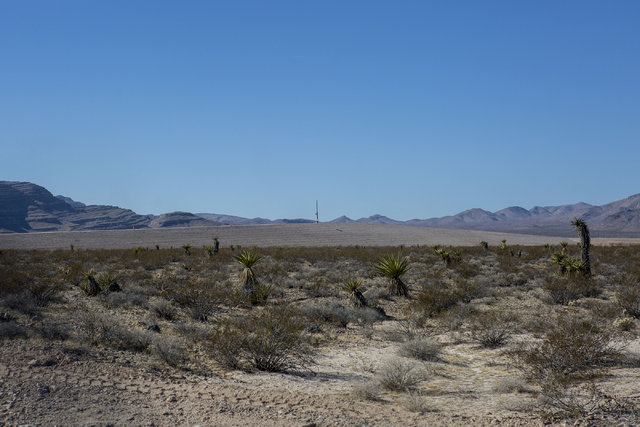 Faraday Future site pictured at the intersection of U.S. Highway 93 and Apex Power Parkway, Thursday, Nov. 10, 2016, in  North Las Vegas. Elizabeth Page Brumley/Las Vegas Review-Journal Follow @EL ...