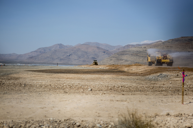 Grading continues at Faraday Future construction site at Apex Thursday, Aug. 25, 2016, in North Las Vegas. Elizabeth Page Brumley/Las Vegas Review-Journal Follow @ELIPAGEPHOTO