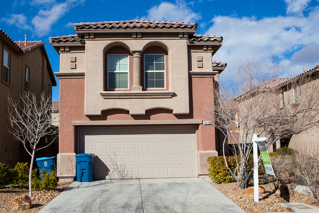 A home listed for rent by Invitation Homes at 9330 Weeping Water Avenue in Las Vegas on Friday, Feb. 3, 2017. (Miranda Alam/Las Vegas Review-Journal) @miranda_alam
