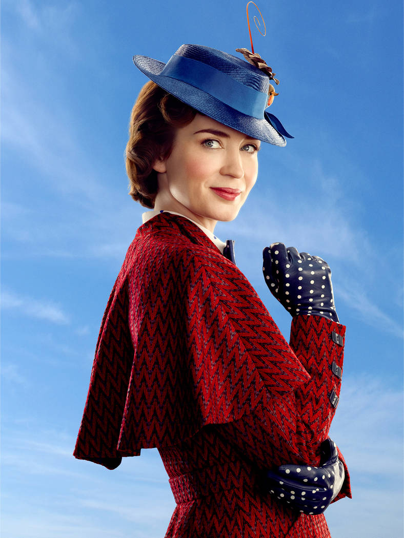 """Mary Poppins (Emily Blunt) in Disney's original musical """"Mary Poppins Returns"""", a sequel to the 1964 M""""Mary Poppins"""" which takes audiences on an entirely new adventure with the practically perfect ..."""