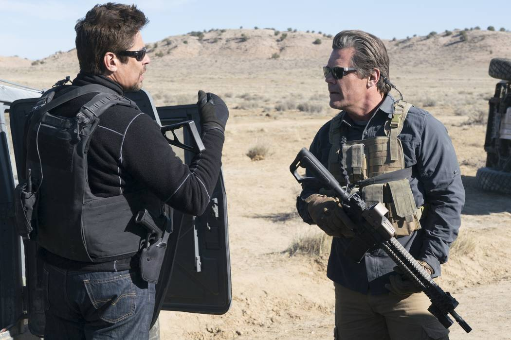 Benicio Del Toro and Josh Brolin star in SICARIO 2: SOLDADO.   © 2017 CTMG, Inc. All Rights Reserved. ALL IMAGES ARE PROPERTY OF SONY PICTURES ENTERTAINMENT INC.