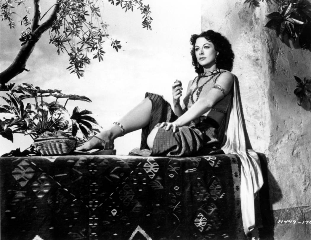 """This is a 1949 photo of Actress Hedy Lamarr on the set of the movie """"Samson and Delilah.""""  (AP Photo)"""