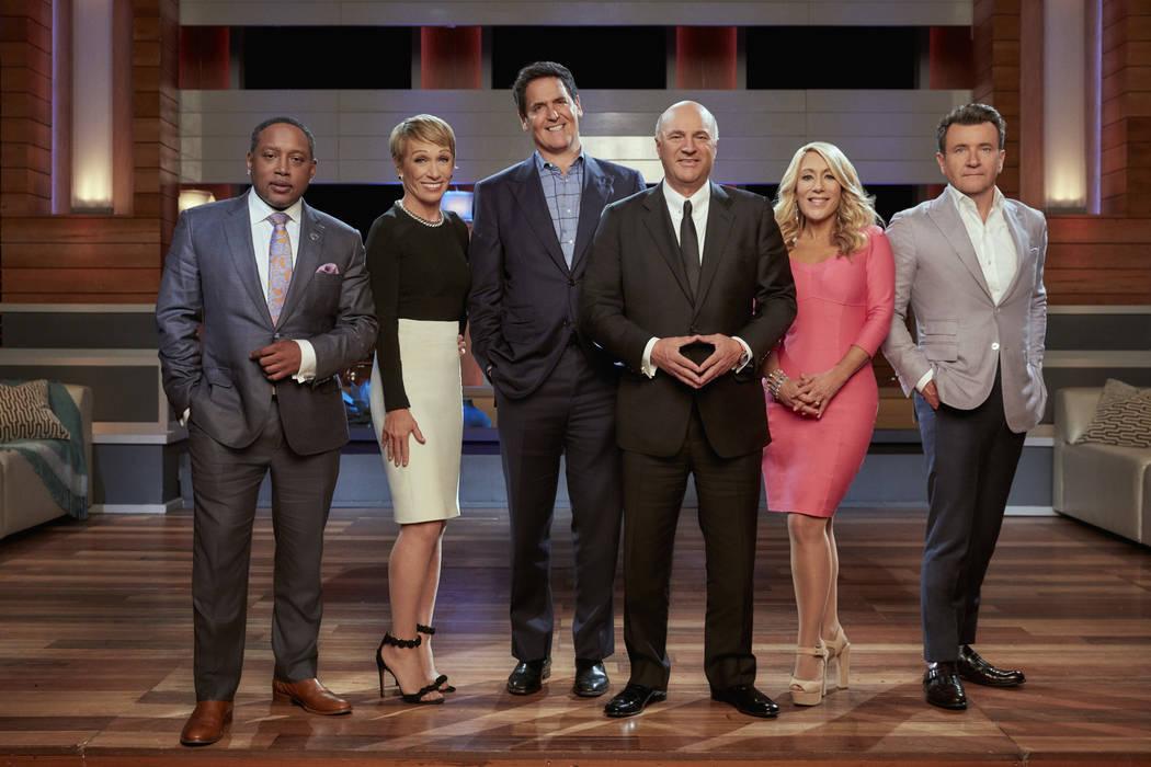 "Daymond John, Barbara Corcoran, Mark Cuban, Kevin O'Leary, Lori Greiner and Robert Herjavec are the ""Sharks"" on ABC's ""Shark Tank."" (ABC/Patrick Ecclesine)"