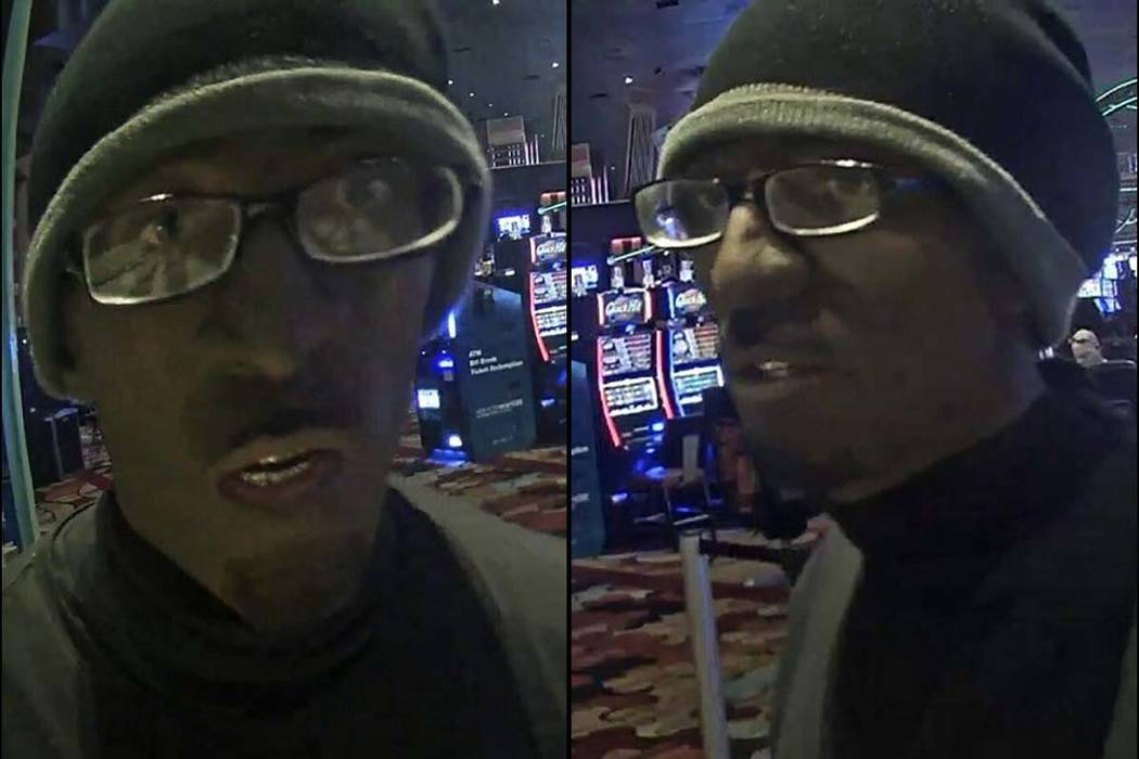 Suspect in robbery at New York-New York, Wednesday, January 10, 2018. (Las Vegas Metropolitan Police Department)