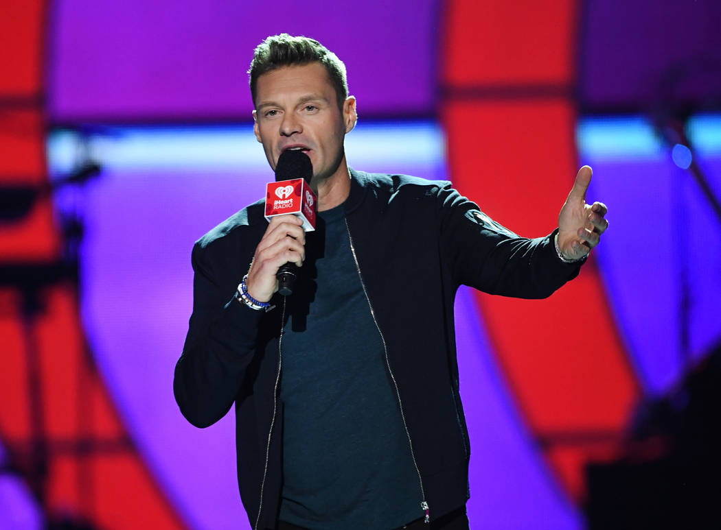 Ryan Seacrest speaks onstage during the 2017 iHeartRadio Music Festival at T-Mobile Arena on September 22, 2017 in Las Vegas, Nevada.  (Photo by Kevin Winter/Getty Images for iHeartMedia)