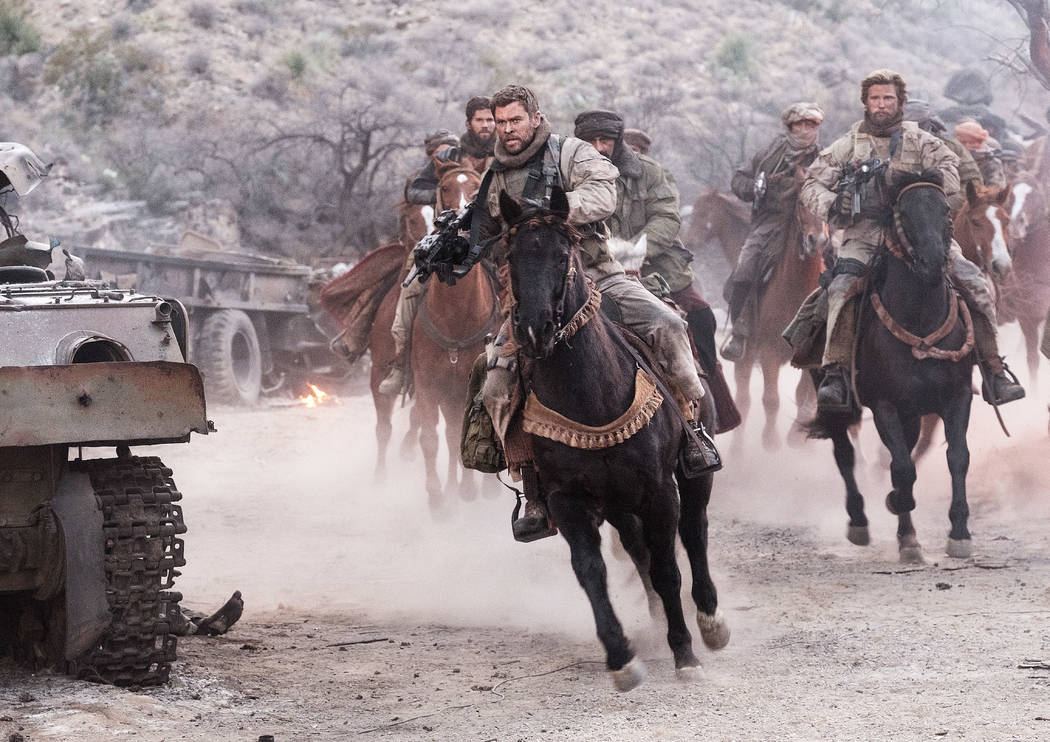 """CHRIS HEMSWORTH as Captain Mitch Nelson in """"12 STRONG."""" (David James)"""
