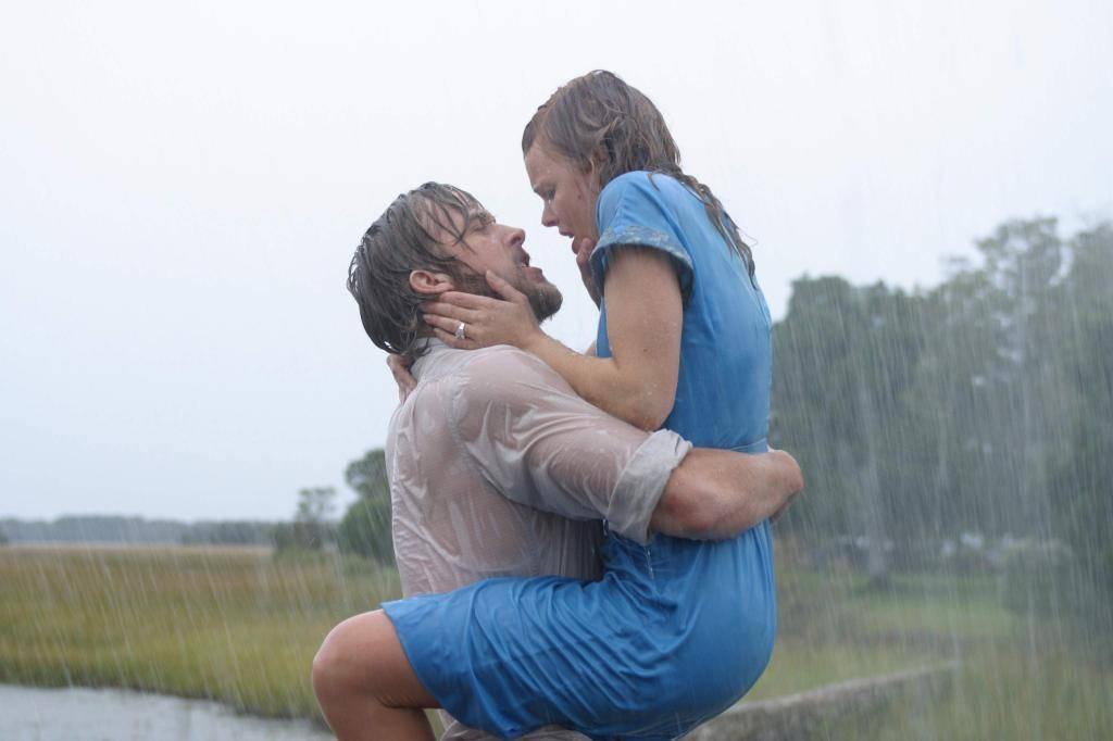 "Ryan Gosling and Rachel McAdams play Noah and Allie Calhoun in 2004's ""The Notebook."" (New Line Cinema)"