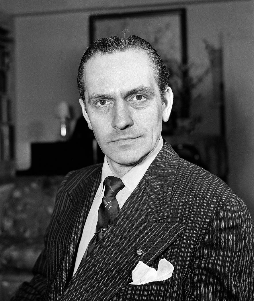 Fredric March, stage, screen and radio star on April 13, 1943. Location unknown. (AP Photo)