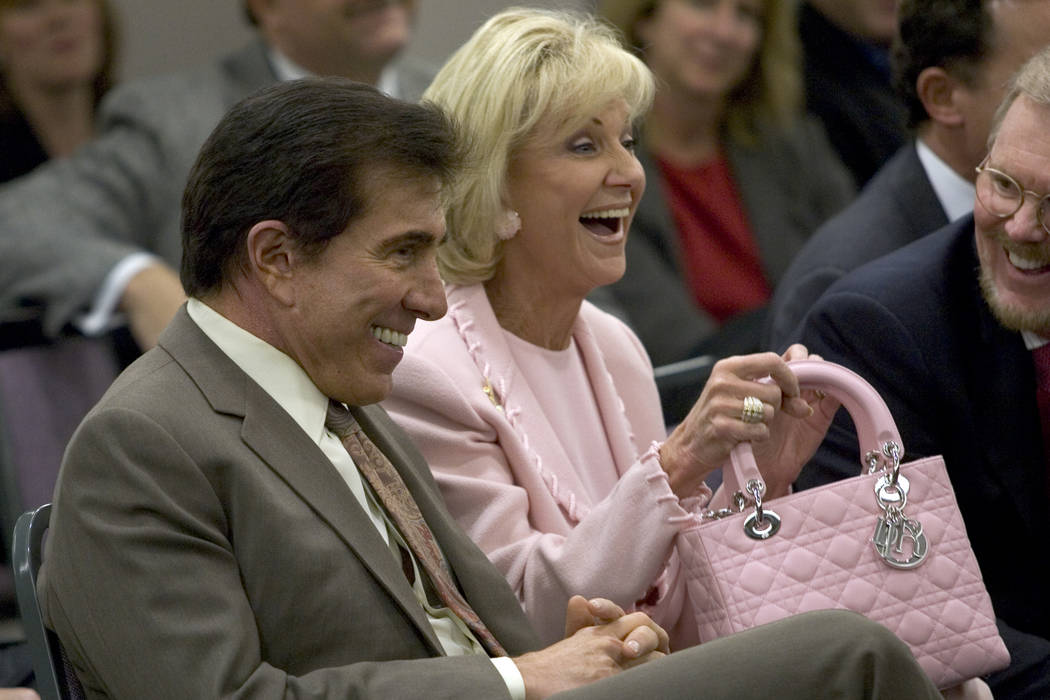 Steve and Elaine Wynn on Wednesday, March 9, 2005. (K.M. Cannon/Las Vegas Review-Journal)