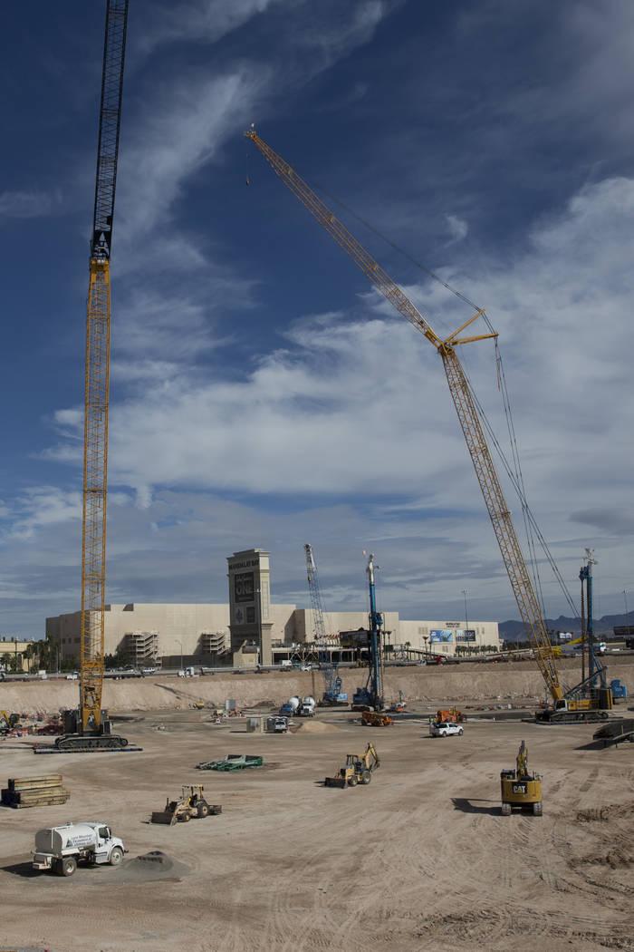 The site of the future Raiders stadium in Las Vegas, Friday, March 9, 2018. Erik Verduzco Las Vegas Review-Journal @Erik_Verduzco