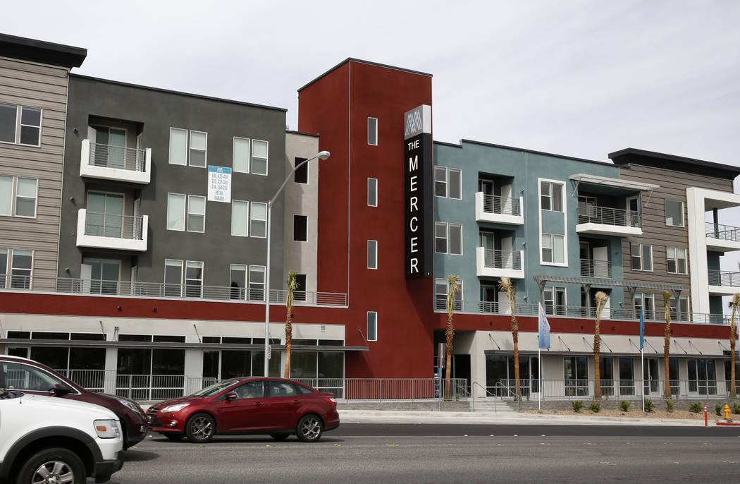 The Mercer apartment complex at 9830 W. Tropicana Ave. photographed on Monday, April 2, 2018, in Las Vegas. (Bizuayehu Tesfaye/Las Vegas Review-Journal) @bizutesfaye