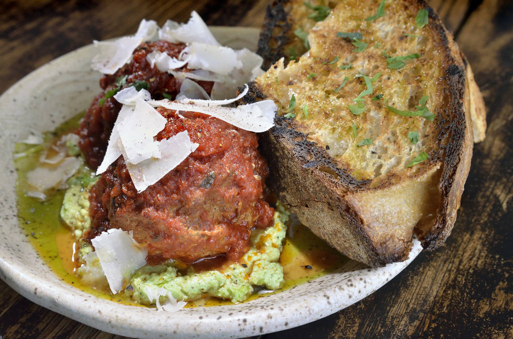 The polpette (meatballs) is shown at Esther's Kitchen at 1130 Casino Center Blvd. in Las Vegas on Friday, April 13, 2018. Bill Hughes/Las Vegas Review-Journal