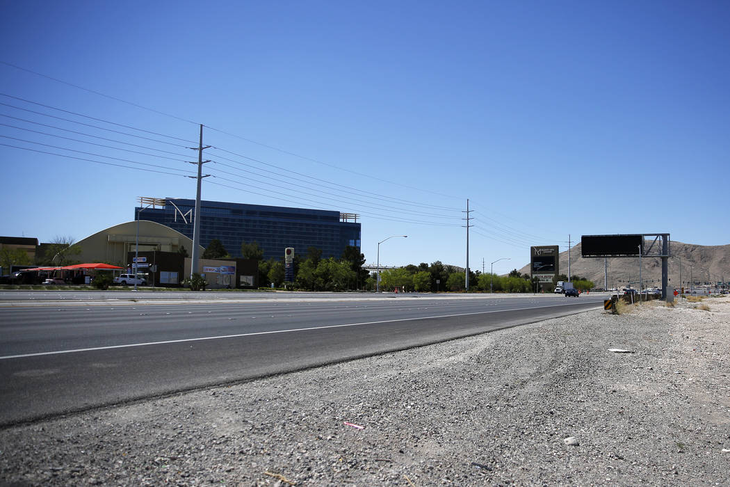 A view of an undeveloped stretch near the M Resort in Las Vegas on Friday, April 27, 2018. Andrea Cornejo Las Vegas Review-Journal @dreacornejo