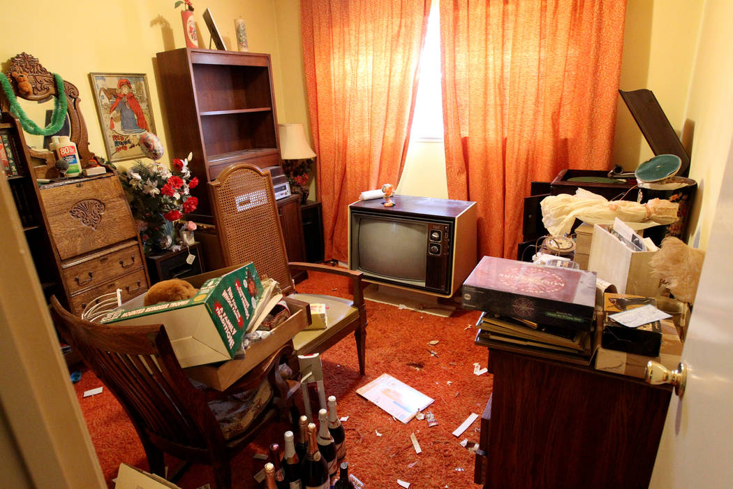 A room of home at 809 Palmhurst Drive in Las Vegas Thursday, Feb. 22, 2018. After home owner Carole Barnish died last August, Shalena Earnheart claimed ownership, sparking a heated dispute. A neig ...