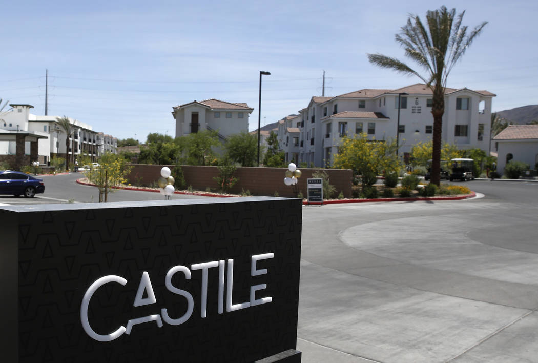 The exterior of Castile apartment complex photographed on Friday, May 11, 2018, in Henderson. Bizuayehu Tesfaye/Las Vegas Review-Journal @bizutesfaye