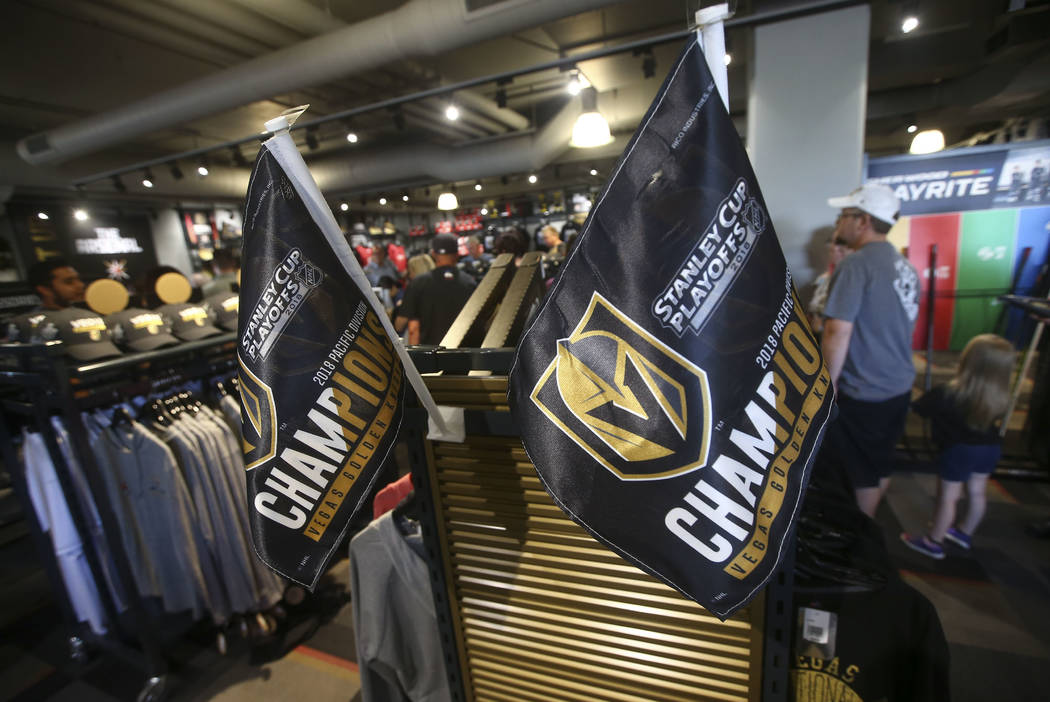 Merchandise at The Arsenal following a team practice at City National Arena in Las Vegas on Thursday, May 10, 2018. Chase Stevens Las Vegas Review-Journal @csstevensphoto