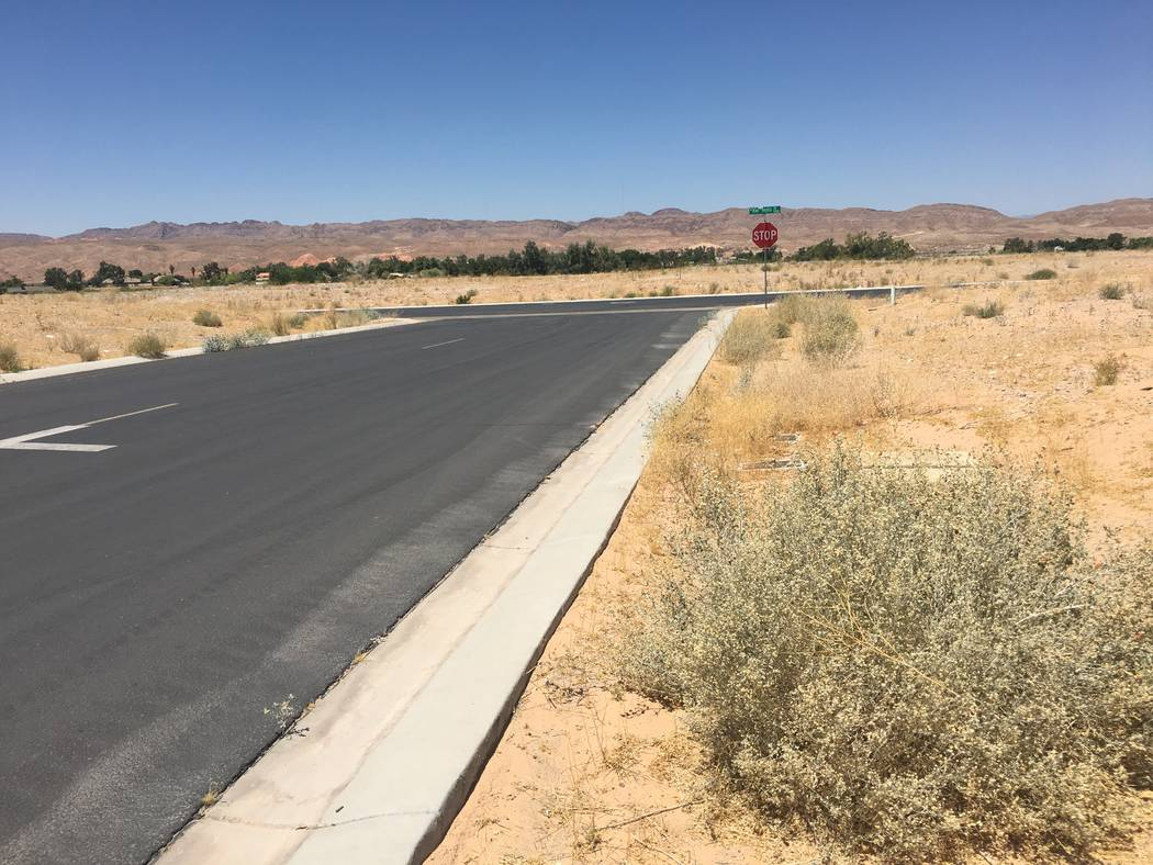 Texas homebuilder D.R. Horton acquired dozens of lots in Valley Heights, a mostly empty subdivision in the rural town of Logandale. Empty lots in Valley Heights are seen on Tuesday, June 12, 2018. ...