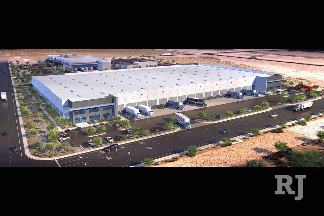 Panattoni Development Co. broke ground on Centennial Commerce Center, a 204,000-square-foot warehouse in North Las Vegas. (MNG Partners)