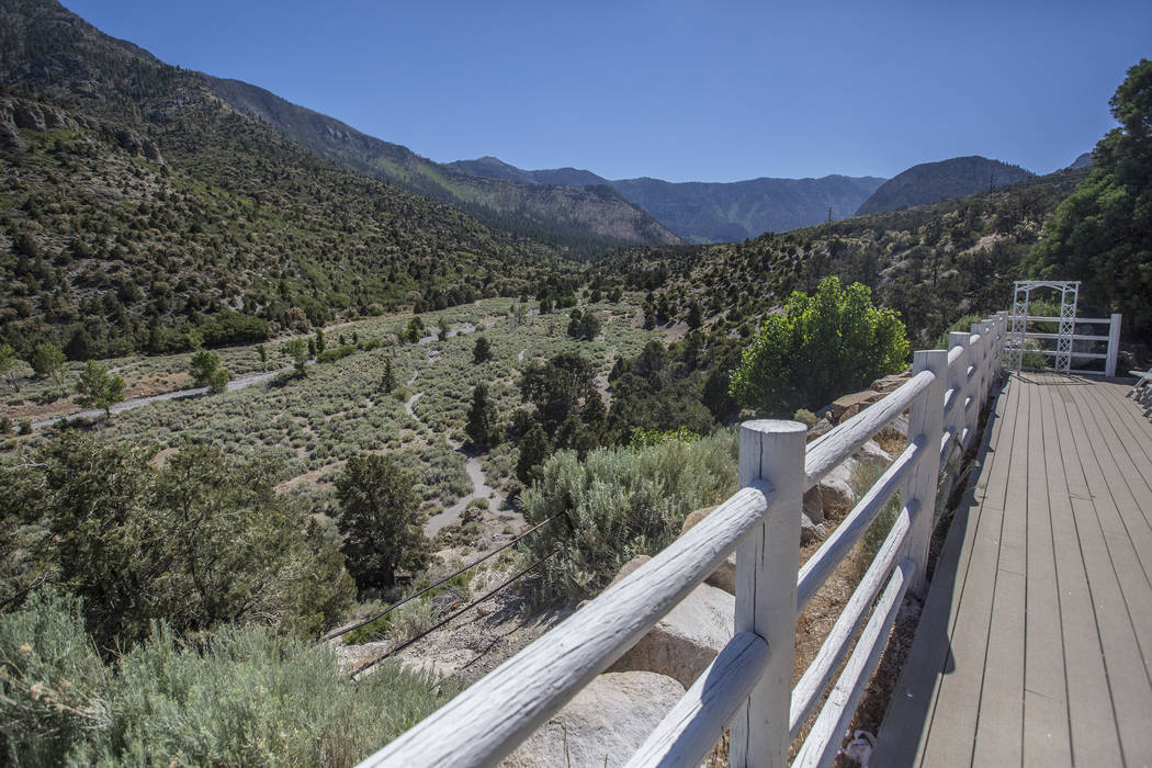 The view from the south balcony at The Resort on Mount Charleston on Friday, June 29, 2018, in Las Vegas. Benjamin Hager Las Vegas Review-Journal @benjaminhphoto