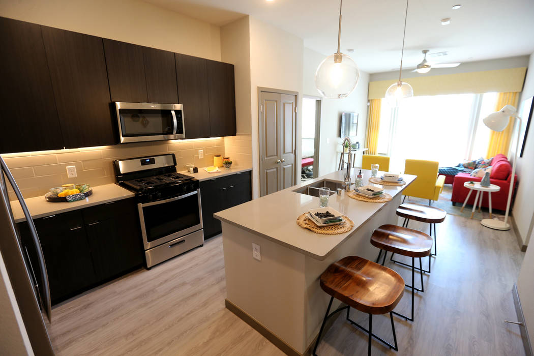 The Breathe floor plan at Lotus apartment complex on Spring Mountain Road near Valley View Boulevard Monday, May 25, 2018. K.M. Cannon Las Vegas Review-Journal @KMCannonPhoto