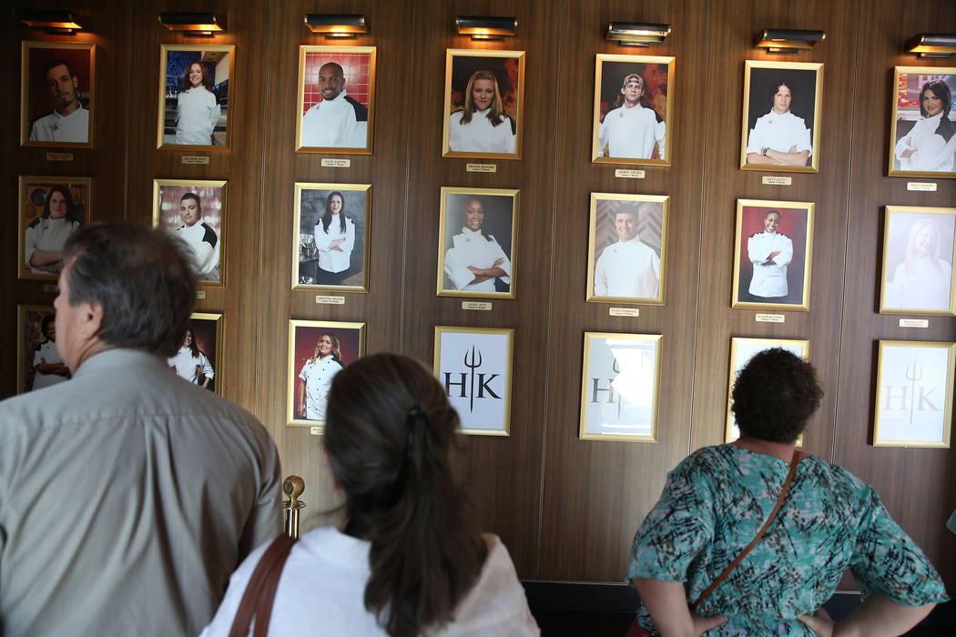 People wait to be seated at at Gordon Ramsay Hell's Kitchen in Las Vegas, Tuesday, July 17, 2018. Erik Verduzco Las Vegas Review-Journal @Erik_Verduzco