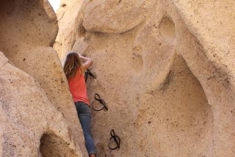The Bureau of Land Management installed these ringbolts more than 35 years ago to aid hikers tr ...