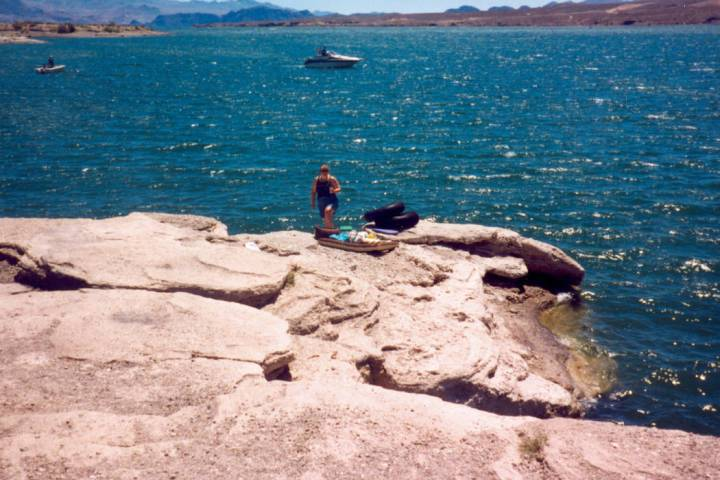 Gypsum Point at Lake Mead National Recreation Area as seen in July 1998. (Michael Quine/Las Vegas Review-Journal) @Vegas88s