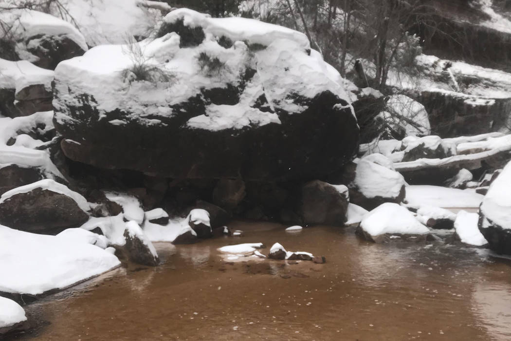 The National Park Service has shared photos form a quicksand rescue at Zion National Park on Saturday,