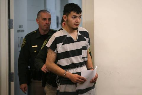 Wilber Martinez-Guzman appears in Carson City Justice Court, in Carson City on Thursday, Jan. 2 ...