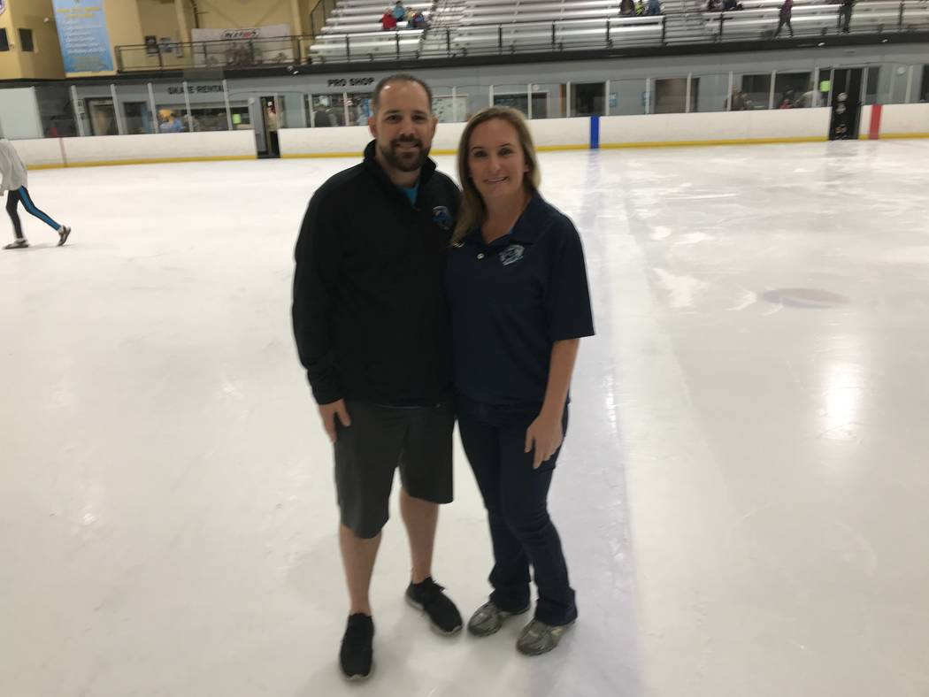 Gina Kielb and Bryan Toupe are the founders of Sobe Ice Warriors League (Herb Jaffe)