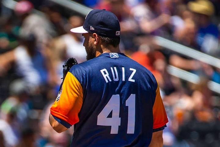 Las Vegas Aviators pitcher Norge Ruiz (L.E. Baskow/Las Vegas Review-Journal)