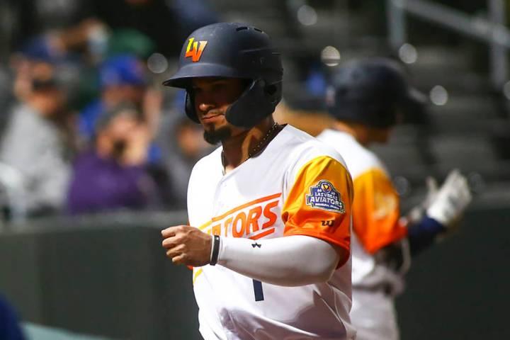 Las Vegas Aviators second baseman Franklin Barreto (Chase Stevens/Las Vegas Review-Journal)