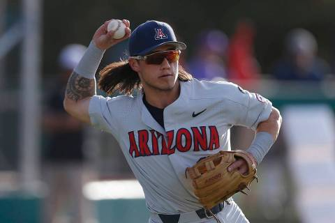 Arizona's Nick Quintana in the first inning during an NCAA college baseball game against Grand ...