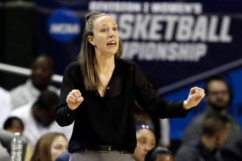California head coach Lindsay Gottlieb instructs her team in the first half of a first round wo ...