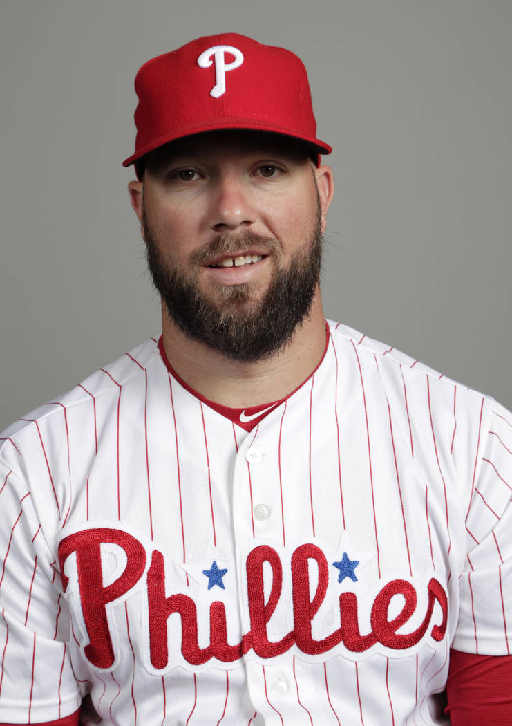 This is a 2018 photo of Cameron Rupp of the Philadelphia Phillies baseball team. This image ref ...