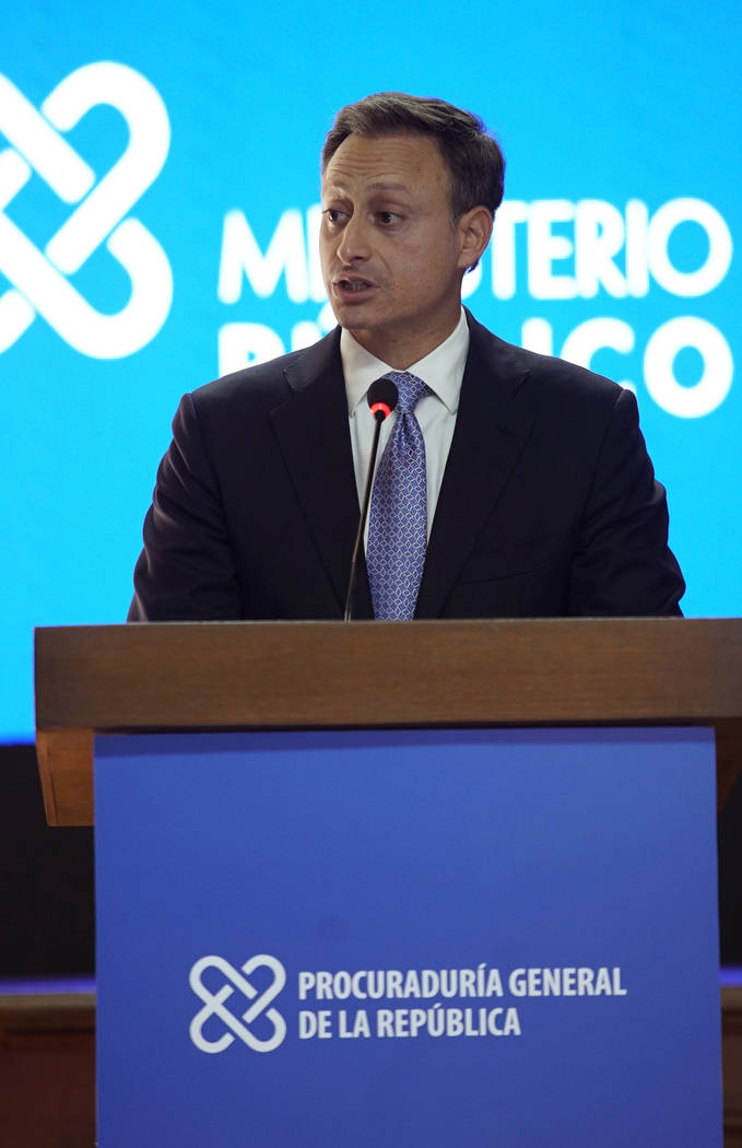 Attorney General of the Dominican Republic, Jean Alain Rodríguez, gives a press conference ...