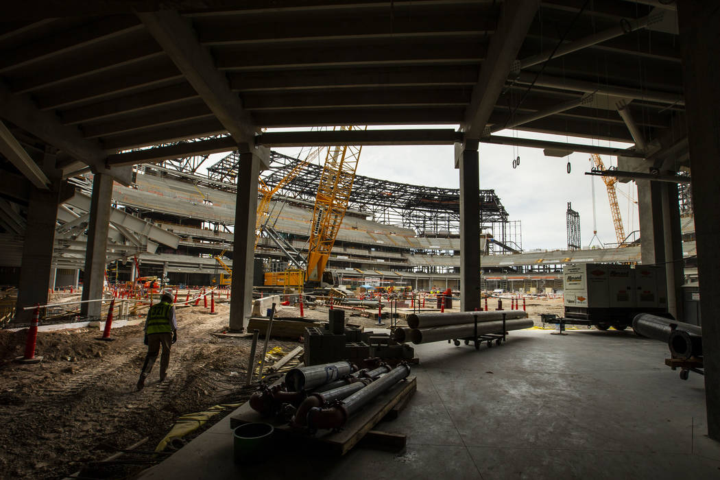 Don Webb, chief operating officer of the Las Vegas Stadium Co., a subsidiary of the Oakland Rai ...