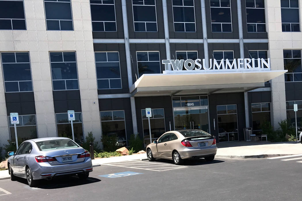 The exterior of Two Summerlin is seen. (Herb Jaffe)