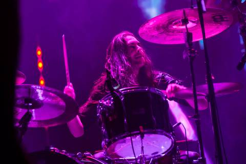 Jon Rice, of Uncle Acid & the Deadbeats, performs at the Mandalay Bay Events Center during ...