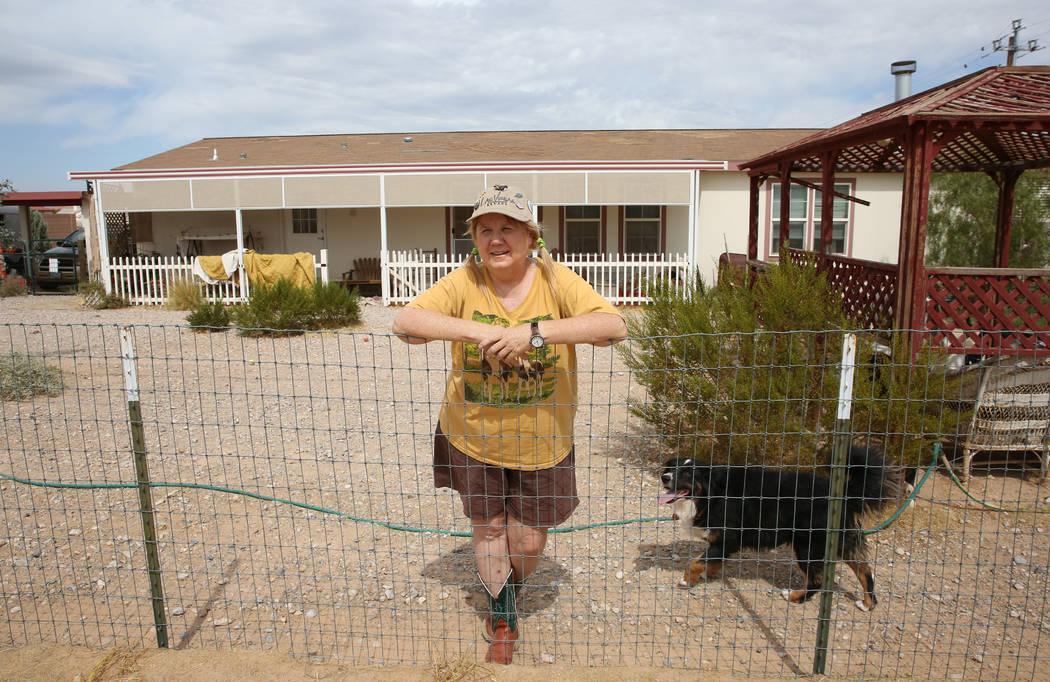 Susan Lorenz, 62, poses for a photo at her Las Vegas home on Monday, Sept. 23, 2019. (Bizuayehu ...