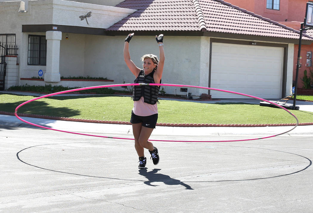 """Getti Kehayova, 42, who recently broke the Guinness World Record for the """"largest hula hoop s ..."""