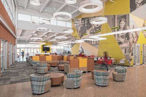 The interior of the student union building at the College of Southern Nevada's Henderson campus ...