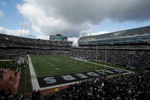 The Tennessee Titans play the Oakland Raiders in an NFL football game in Oakland, Calif., Sunda ...