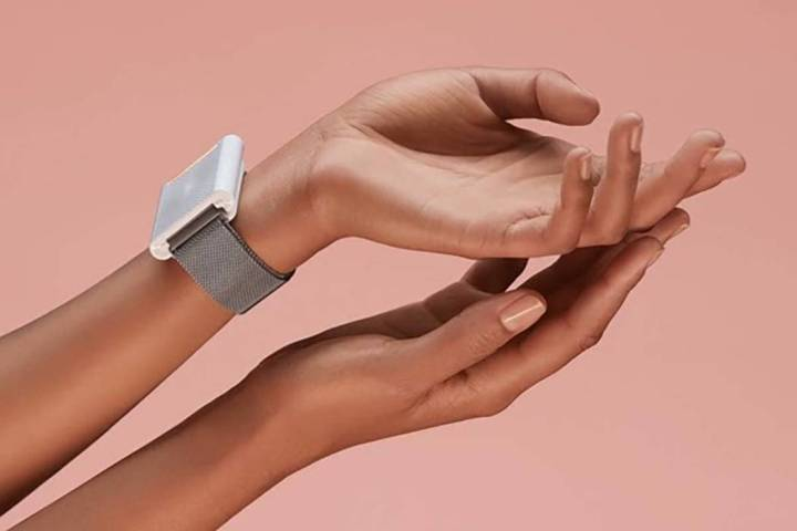 The wave by Embr Labs is an intelligent bracelet that aims to warm or cool the body by 5 degree ...