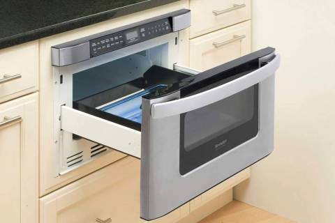 Sharp's 24-inch 1,000-watt Microwave Drawer has 11 sensor options and space for a 9-by-13-inch ...