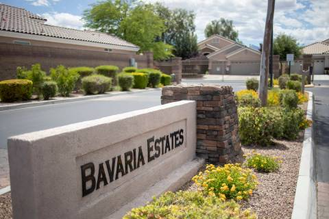 Bavaria Estates subdivision in northwest Las Vegas features such streets as White Tiger Court, ...