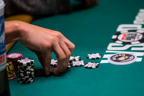 World Series of Poker at the Rio Convention Center in Las Vegas on Monday, June 24, 2019. (Chas ...