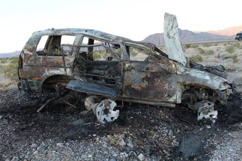 One person was killed Monday, June 8, 2020, on U.S. Highway 95 near Lee Canyon Road when this 2 ...