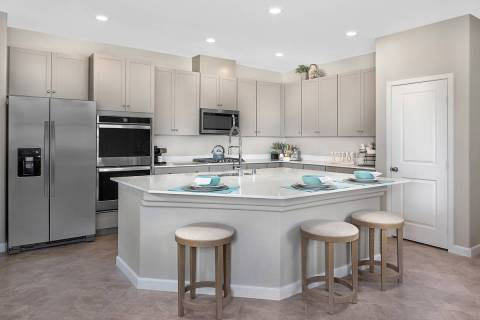 KB Home's Groves town homes in Inspirada features floor plans with large kitchens. (KB Home)